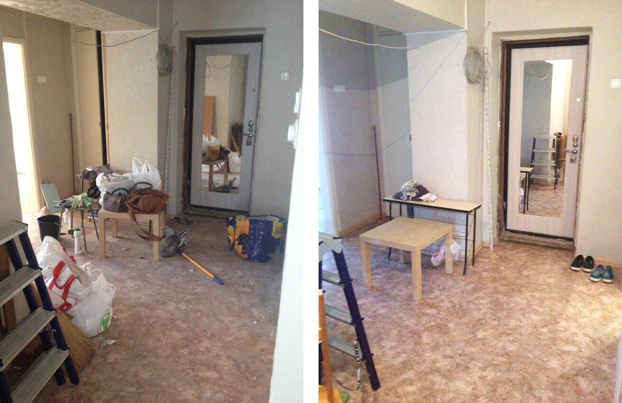 Уборка 1 комнатной квартиры после ремонта: