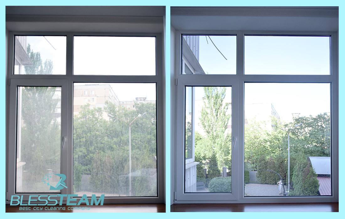 Мойка окон с двух сторон в 3ех к квартире с балконом (окна - 26 кв.метров)