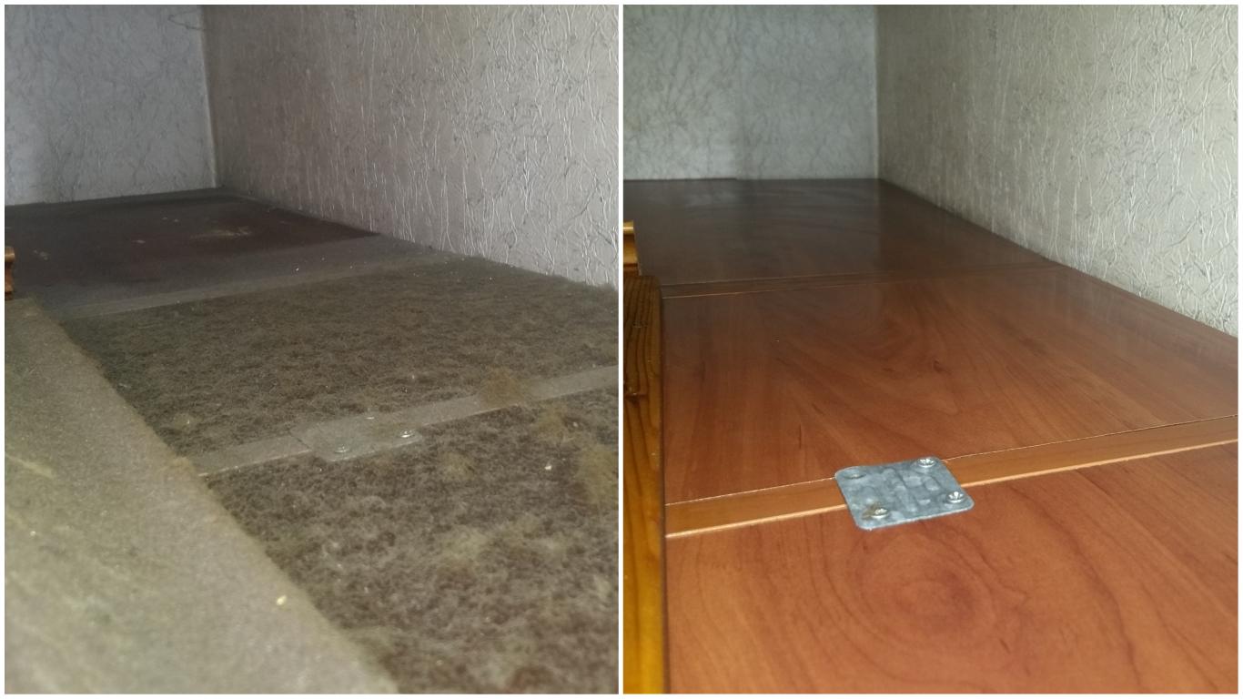 Детальная уборка кухонной мебели: